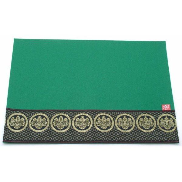 画像2: 家紋入り毛氈(フェルト)敷折織丸に五三の桐(まるにごさんのきり)