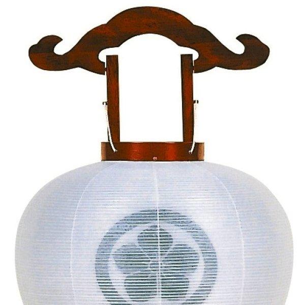 画像1: 家紋入り盆提灯用火袋交換 二重無地