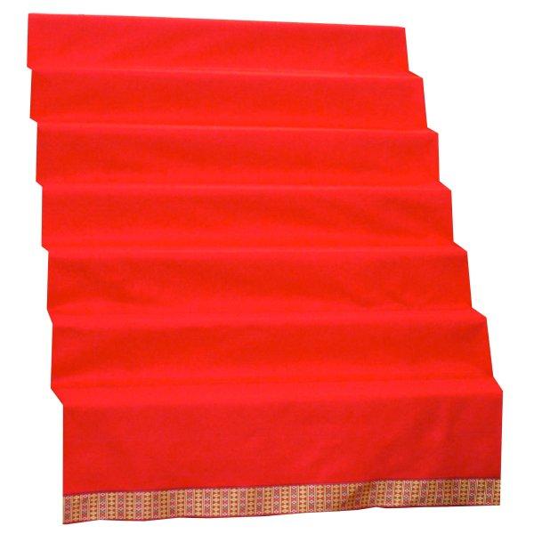 画像1: 赤毛氈(もうせん) 敷折織 5柄 (しきおりおり) 七段飾り用