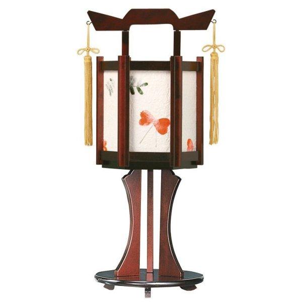 画像1: インテリア盆提灯 雅盆付 小さくら(押し花)