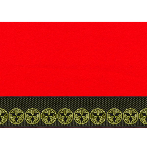 画像2: 家紋入り毛氈(フェルト)敷折織丸に九枚笹(まるにくまいざさ)