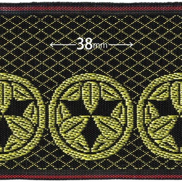 画像1: 家紋入り毛氈(フェルト)敷折織丸に九枚笹(まるにくまいざさ)