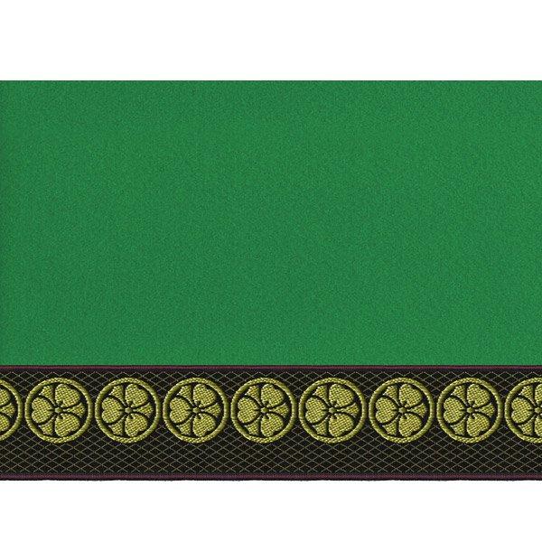 画像4: 家紋入り毛氈(フェルト)敷折織丸に剣片喰(けんかたばみ)
