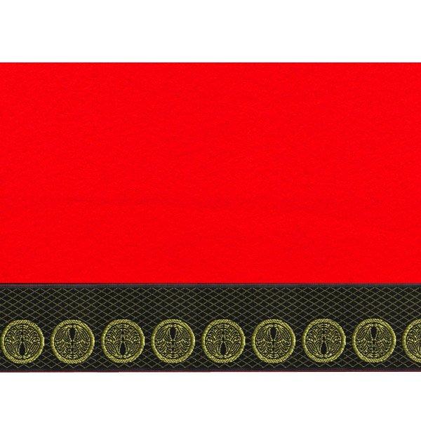画像2: 家紋入り毛氈(フェルト)敷折織丸に抱き茗荷(まるにだきみょうが)