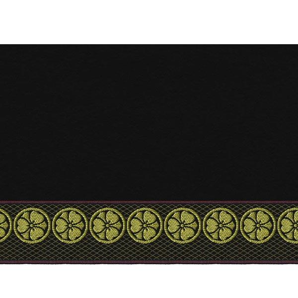 画像3: 家紋入り毛氈(フェルト)敷折織丸に剣片喰(けんかたばみ)