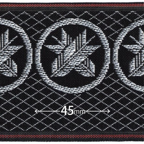 画像1: 家紋入り毛氈(フェルト)敷折織丸に違い矢(まるにちがいや)