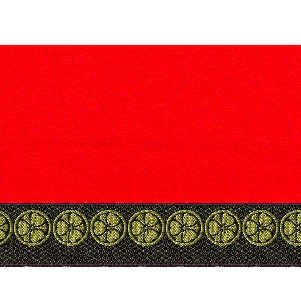 画像2: 家紋入り毛氈(フェルト)敷折織丸に剣片喰(けんかたばみ)