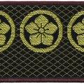 家紋入り毛氈(フェルト)敷折織丸に桔梗(まるにききょう)