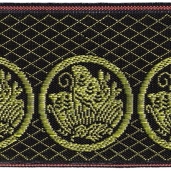 画像1: 家紋入り毛氈(フェルト)敷折織丸に揚羽蝶(まるにあげはちょう)