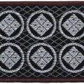 家紋入り毛氈(フェルト)敷折織丸に隅立四つ目(まるにすみたてよつめ)