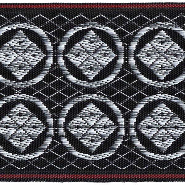 画像1: 家紋入り毛氈(フェルト)敷折織丸に隅立四つ目(まるにすみたてよつめ)