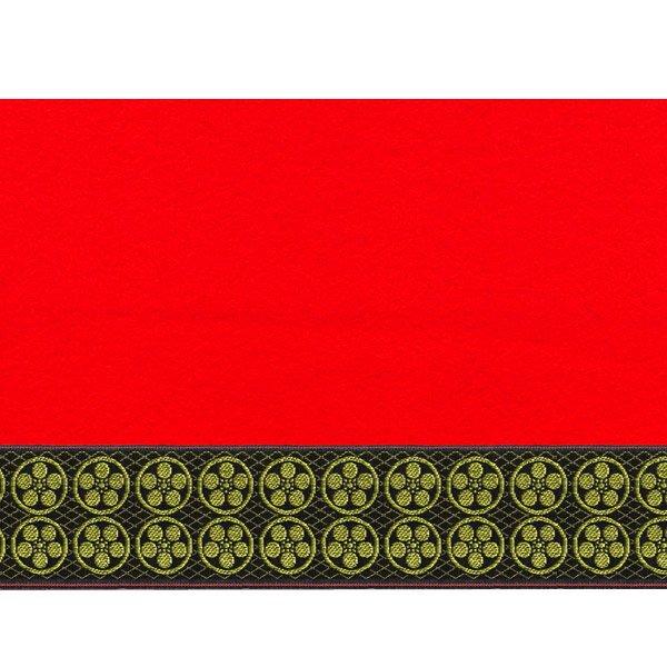 画像2: 家紋入り毛氈(フェルト)敷折織丸に梅鉢(まるにうめはち)天神様神紋
