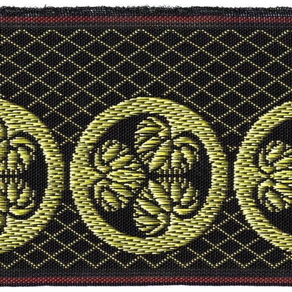 画像1: 家紋入り毛氈(フェルト)敷折織丸に三つ葵(まるにみつあおい)徳川家家紋