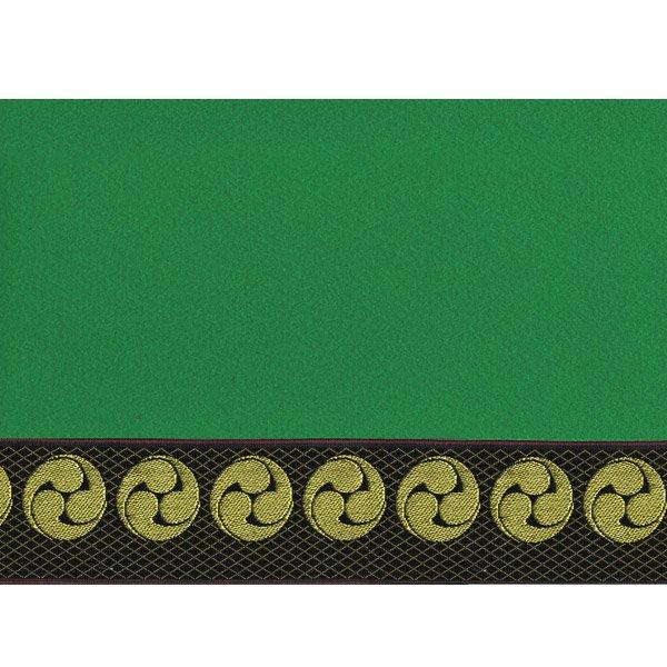 画像4: 家紋入り毛氈(フェルト)敷折織左三つ巴(ひだりみつどもえ)