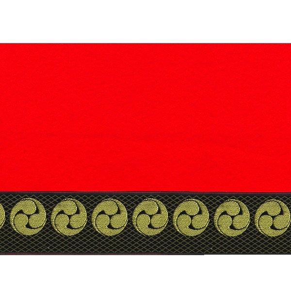 画像2: 家紋入り毛氈(フェルト)敷折織左三つ巴(ひだりみつどもえ)