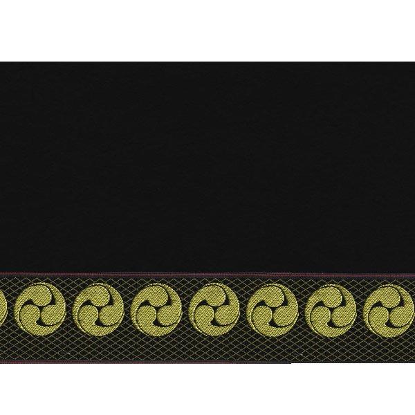 画像3: 家紋入り毛氈(フェルト)敷折織左三つ巴(ひだりみつどもえ)