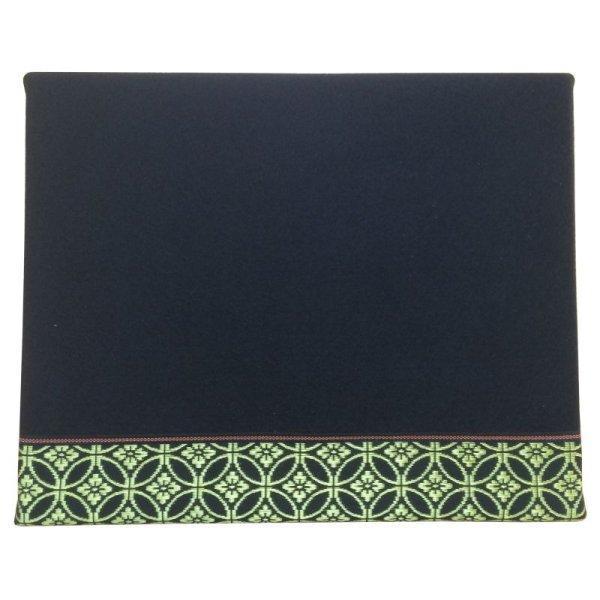 画像1: 立体黒毛氈 七宝金(しっぽうきん) 敷折織