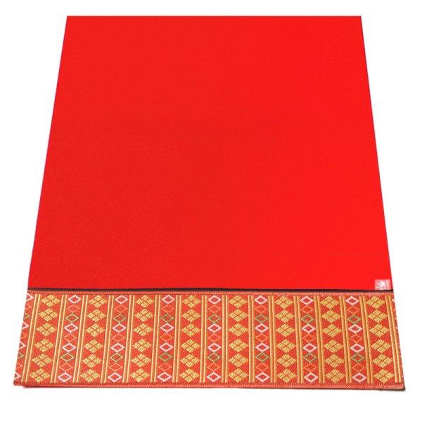 画像1: 赤毛氈(もうせん)  敷折織 5柄 (しきおりおり) 床飾り用