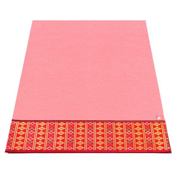 画像1: ピンク毛氈 敷折織 5柄 (しきおりおり) 床飾り用