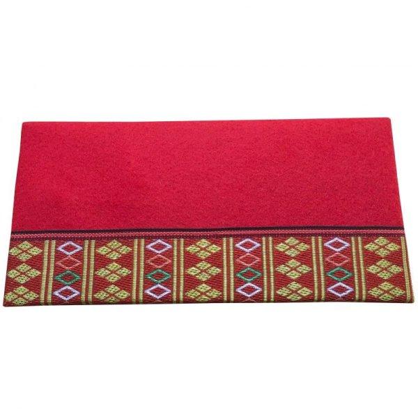 画像2: 立体赤毛氈  繧繝(うんげん) 敷折織