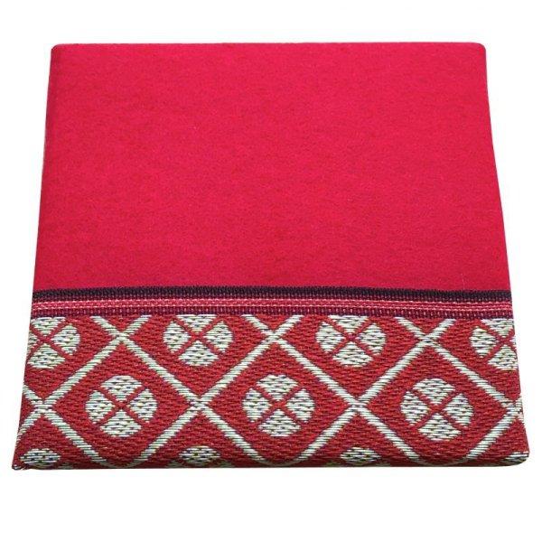 画像1: 立体赤毛氈  小紋赤(こもんあか) 敷折織