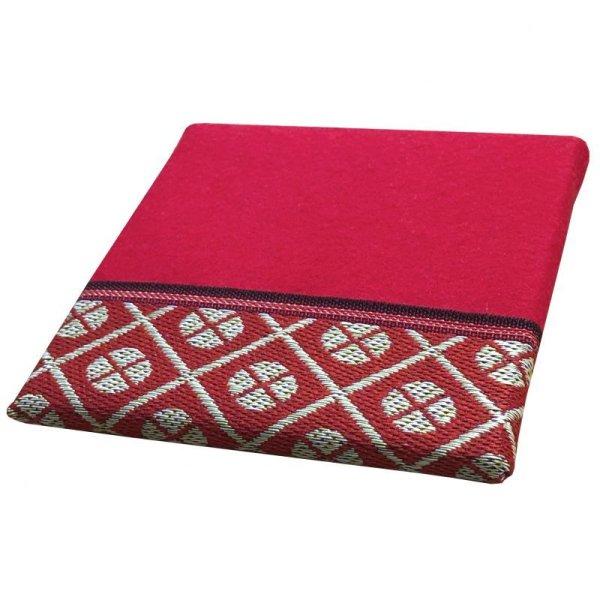 画像2: 立体赤毛氈  小紋赤(こもんあか) 敷折織