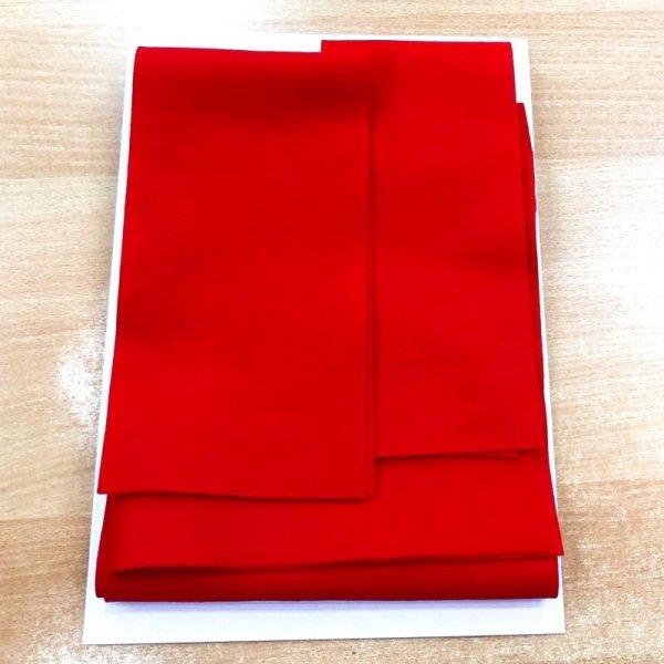画像1: 赤毛氈 フェルト「敷折織」無地 1mm厚