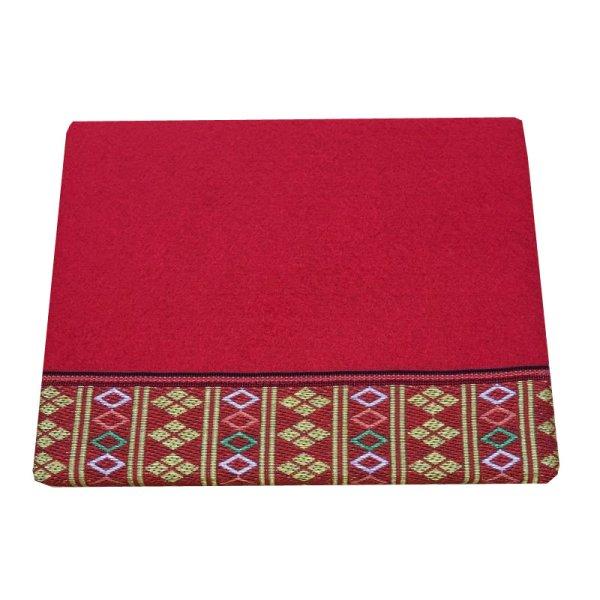 画像1: 立体赤毛氈  繧繝(うんげん) 敷折織