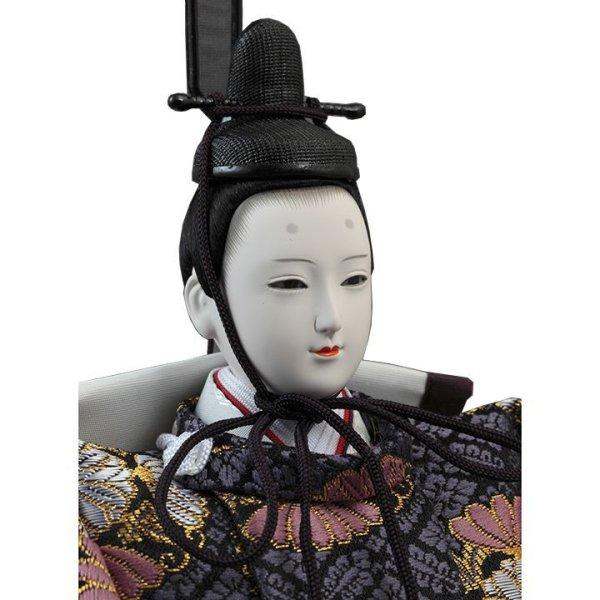 画像3: 久月 雛人形(ひな人形)収納三段五人飾り「皇雅飾」(巾75cm)