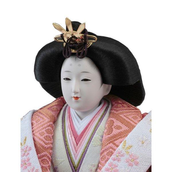 画像4: 久月 雛人形(ひな人形)収納三段五人飾り「皇雅飾」(巾75cm)