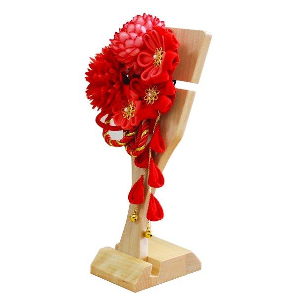 画像3: インテリア羽子板 髪飾り 赤22