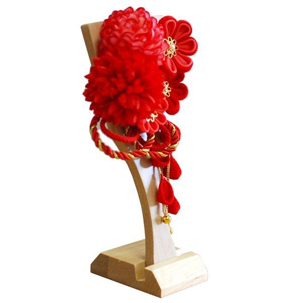 画像4: インテリア羽子板 髪飾り 赤22
