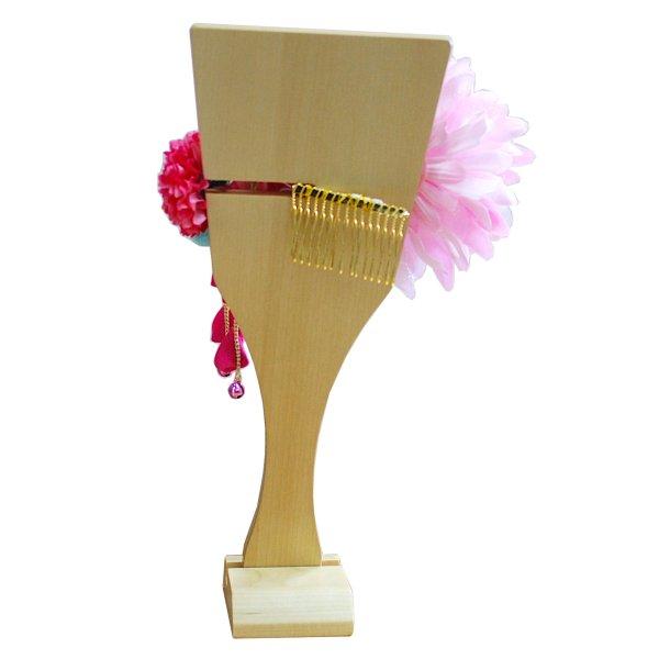 画像5: インテリア羽子板 髪飾り ピンク30