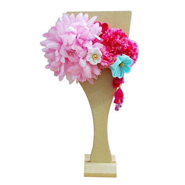 画像2: インテリア羽子板 髪飾り ピンク30